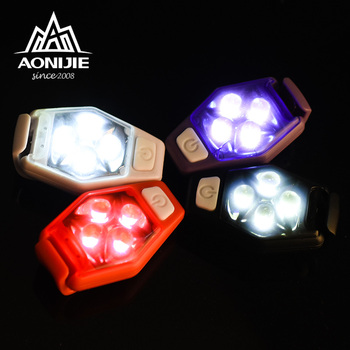Aonijie 4077 ipx4 방수 야간 실행 러너 조깅 개 목걸이 자전거 라이더에 대 한 클립 스트로브 램프와 led 안전 빛