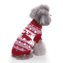 New Autumn/winter Wool Dog Sweater Simple Christmas Keep Warm Knitting for Medium and Big Pet Clothes (red)