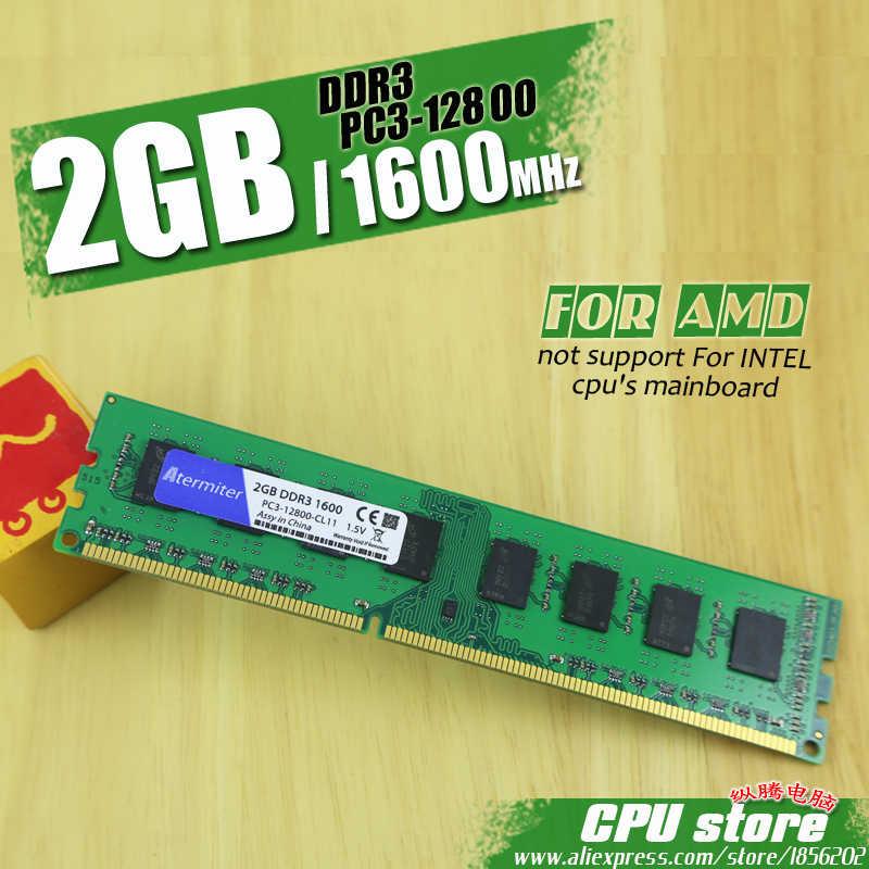 Atermiter DDR3 2 ギガバイト 4 ギガバイト 8 ギガバイト PC3 1333 1600 1333MHZ 1600MHZ 12800 2 グラム 4 グラム 8 グラム Amd の PC メモリ RAM メモリアラムモジュールコンピュータデスクトップ