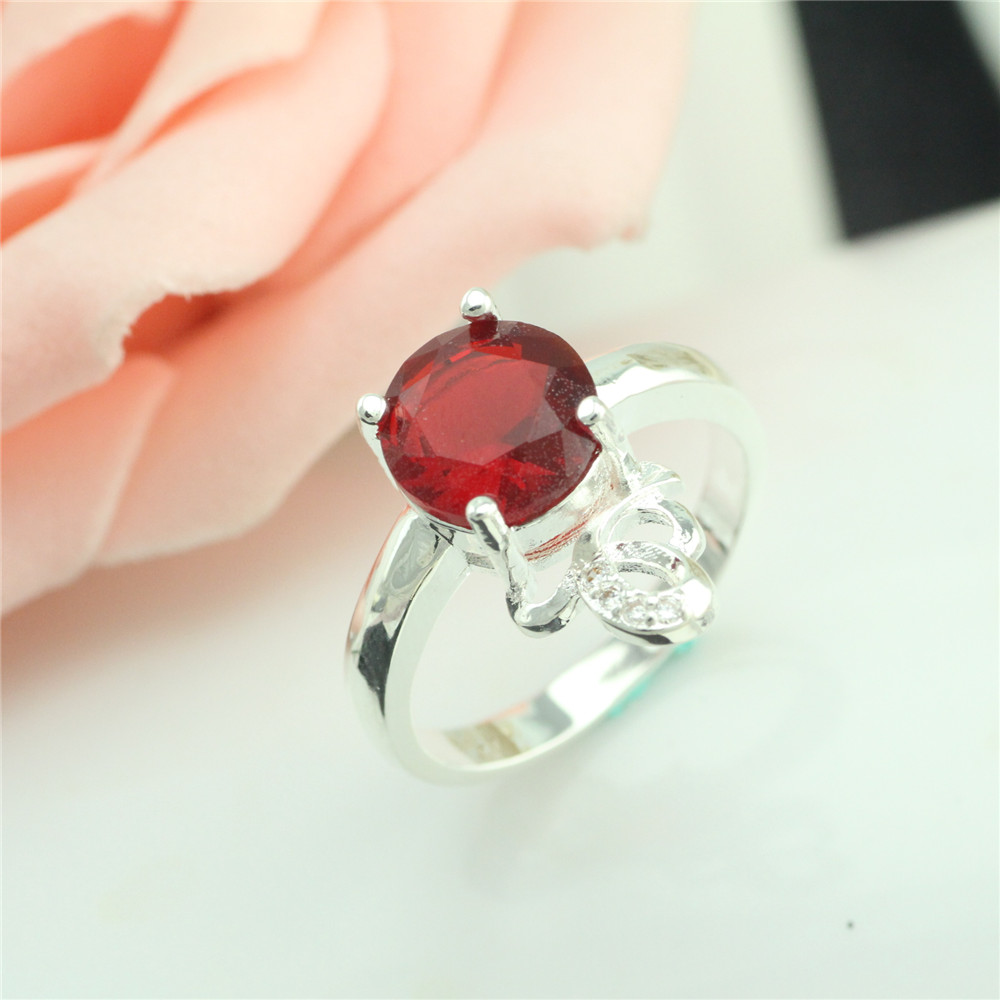 2017 vintage jewelry exquisite 925 font b silver b font inlaid crystal ring Modern beautiful ring