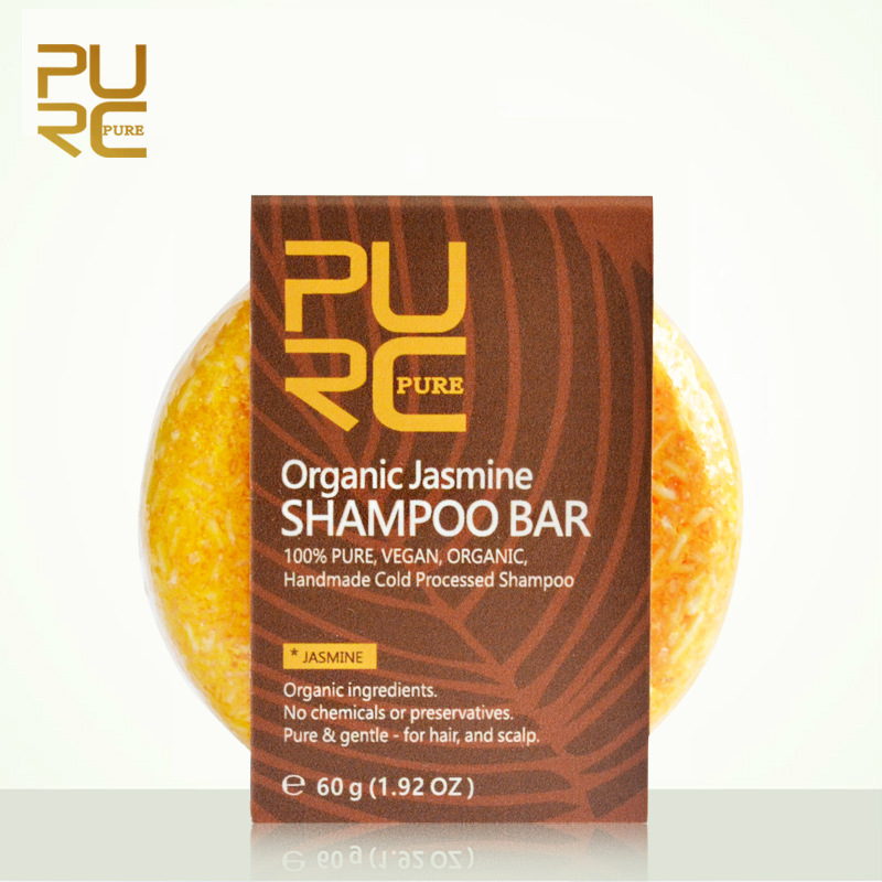 PURC 7Pcs/Set PURC Plant Organic Shampoo Bar 100% Handmade Cold Processed Hair Shampoo No Chemicals Or Preservatives
