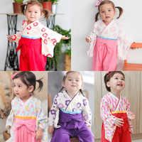 Unisex Infant Full Sleeve Cotton Comfortable Soft Kimono Sleepwear Newborn Baby Boys Girls Japan Style Yukata Pajamas Casual