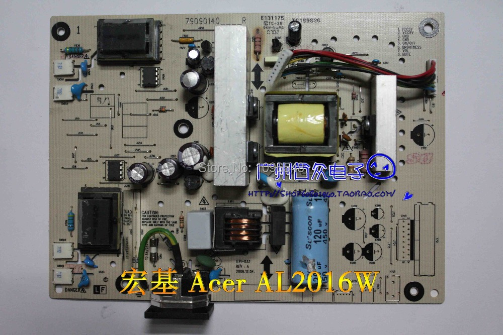 Free Shipping>Original 100% Tested Working AL2016W Power Board ACRAD64 Inverter Board ILPI-033 free shipping 100% tested working v193w ilpi 077 v193w high voltage power supply board plate 492031400100r