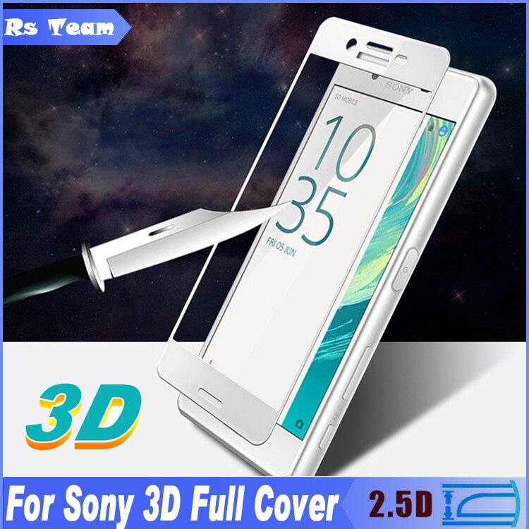 Toughened <font><b>Glass</b></font> Film For Sony Xperia X XA X Performance XA Ultra C6 <font><b>Full</b></font> Cover 3D <font><b>Curved</b></font> Surface <font><b>Tempered</b></font> <font><b>Glass</b></font> <font><b>Screen</b></font> <font><b>Protector</b></font>