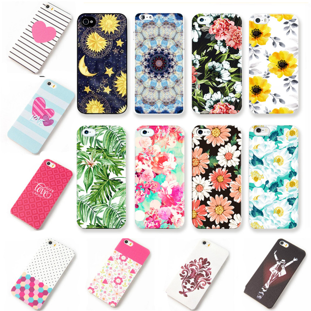 Ultrathin Hard PC Case For iPhone 6 6S Women Colorful Flowers Daisy Rose Plants Leaves Back