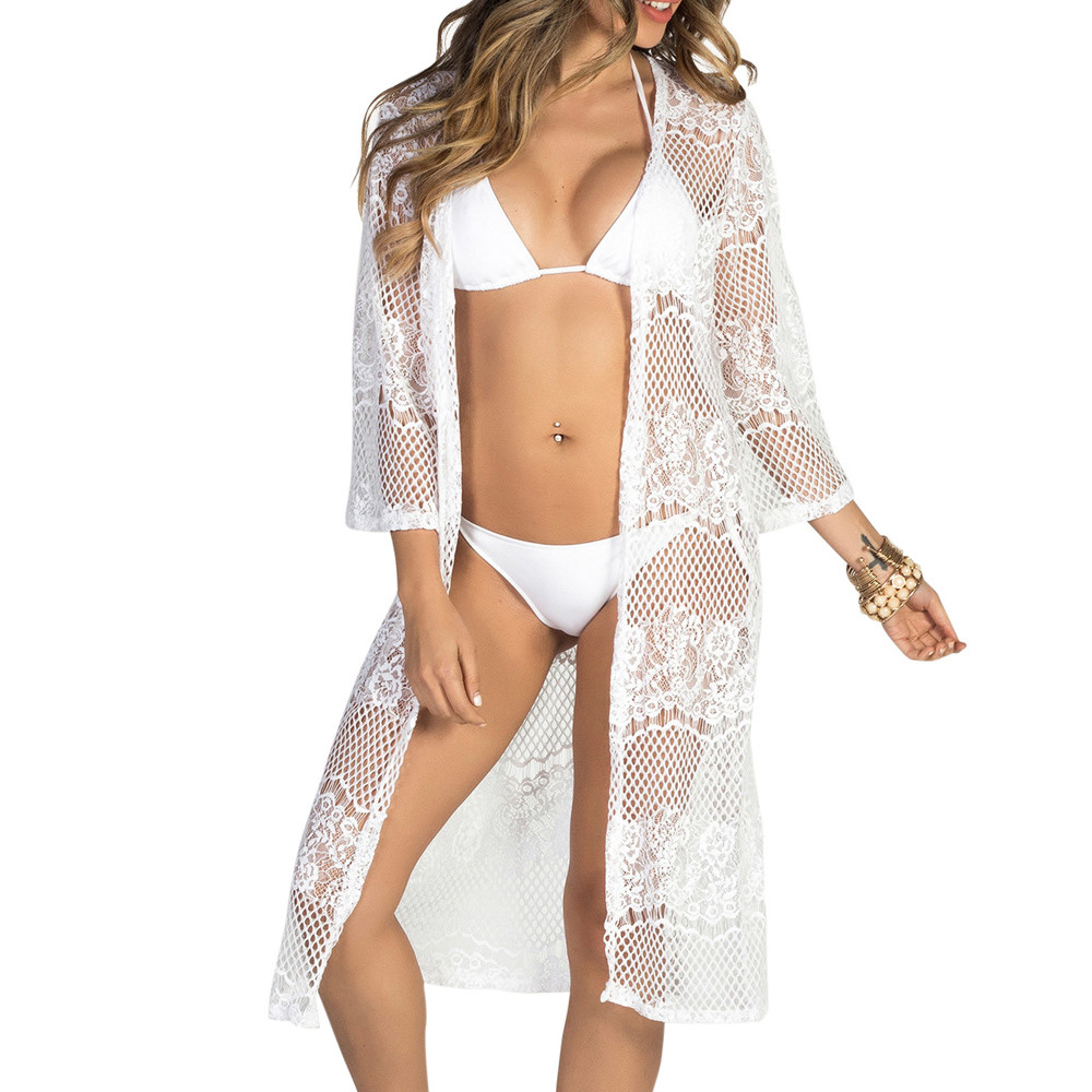 Blouses & Shirts Women Bathing Bikini Swimsuit Swimwear Crochet Smock Fringed Beach Cover Up Fashion Women Summer Beach Clothes A60 For Fast Shipping