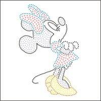 Rhinestones hot map rhinestones chart cartoon graphic patterns MINNIE pattern exquisite all-match children's clothing