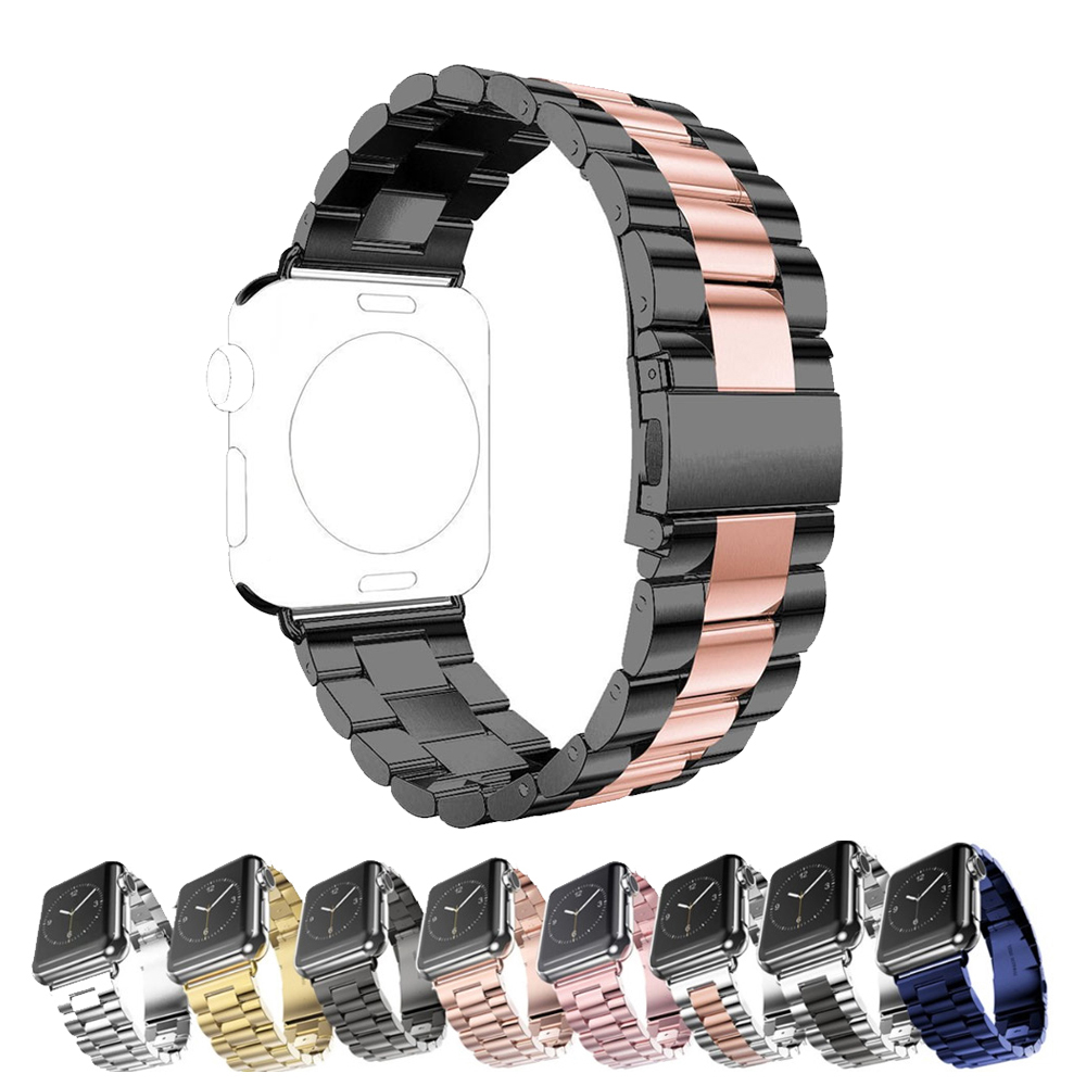 лучшая цена Stainless Steel Strap For Apple Watch band 42mm 38mm Iwatch Series 3 2 1 Classic Links Bracelet Wrist Watchband Accessories