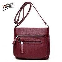 Ange Voix mode femmes messenger sacs pachwork enveloppe sac d'épaule occasionnel de haute qualité PU souple zipper solides nouvelle mode