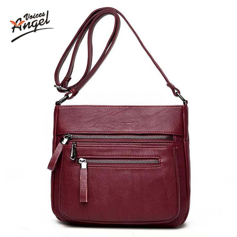 Angel Voices fashion women messenger bags pachwork envelope casual shoulder bag high quality PU soft zipper