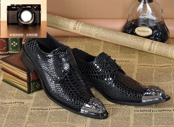 Italian Black Pure Leather Classic Moccasins Shoes Men Oxford Leather Shoes Fashion Lace Up Men's High Heels Shoes For Party