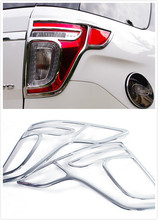 ABS chrome rear tail lamp light cover trims 2pcs for Ford explorer 2011 2012 2013 2014