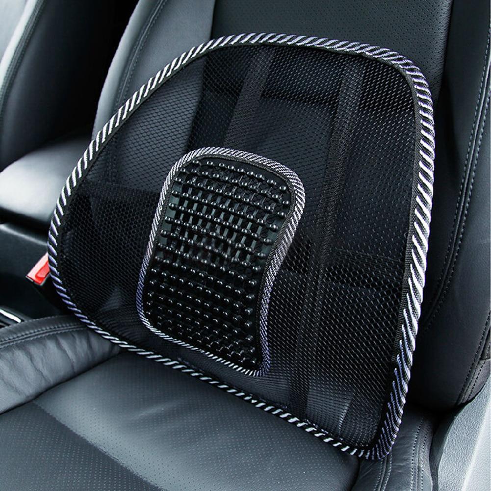 Lumbar Support Pillow For Chair White Bean Bag 2pcs Massage Car Cushion Seat Back Buh9 Mesh/hollow Cloth Waist ...