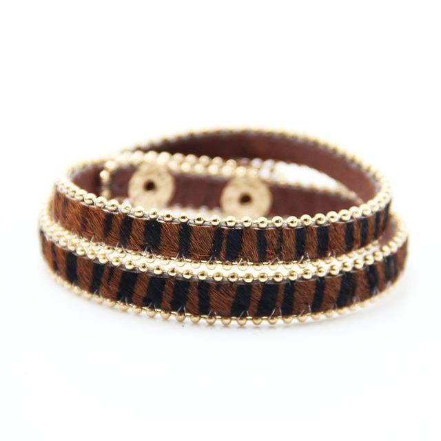 Adjustable Leopard Pattern Bracelet