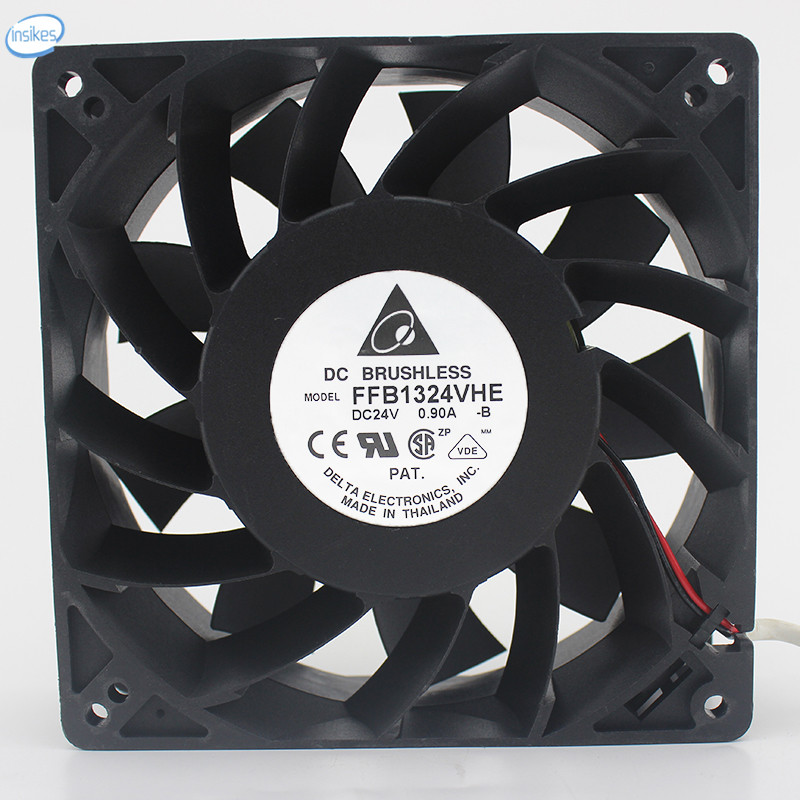 FFB1324VHE-B Inverter Double Ball Cooling Fan DC 24V 0.9A 14.4W 3050RPM 12738 127*127*38mm 2 Wires FFB1324VHE-B Inverter Double Ball Cooling Fan DC 24V 0.9A 14.4W 3050RPM 12738 127*127*38mm 2 Wires