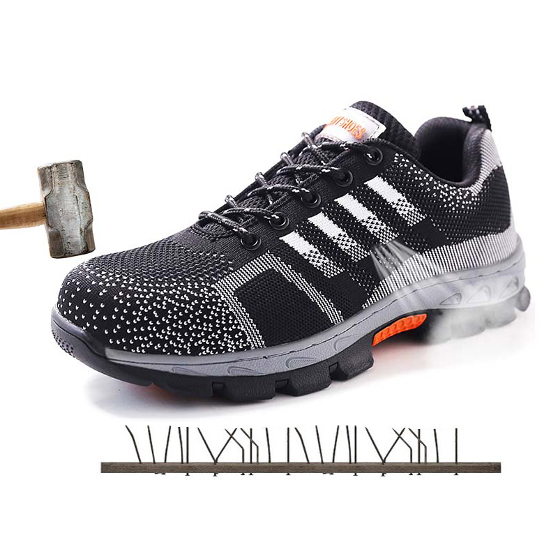 A Professional Work Shoes Mens Sneakers Safety Shoes Women Breathable Steel Toe Shoes Men Shoe Couple worker 2019 Big Size 35-46
