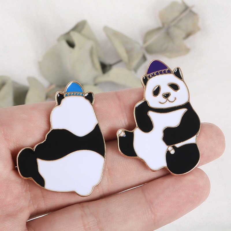 Panda pin Nazionale Cinese Tesoro Animale Spille Distintivi e Simboli Carino Forma Dello Smalto Zaino pins Per La Panda Ventole Regalo di commercio all'ingrosso Dei Monili