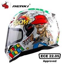 NENKI Motorcycle Helmet Men Full Face Helmet Moto Riding ABS