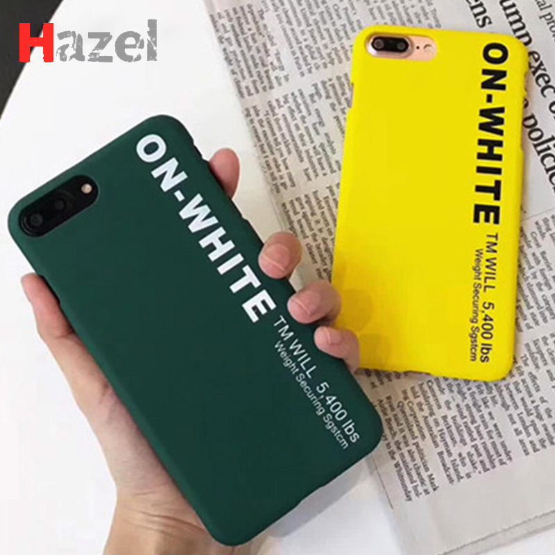 Off On White Phone Bags Cases for iPhone 5 SE 5SE 6 S 6s 7 8 Plus X Cover Matte PC Case coque for iPhone5 iphone6 capinha funda