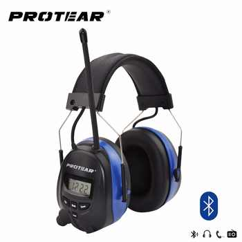 Protear NRR 25dB Hearing Protector Bluetooth AM/FM Radio Earmuffs Electronic Ear Protection Bluetooth Headphone Ear Defender - DISCOUNT ITEM  0% OFF All Category