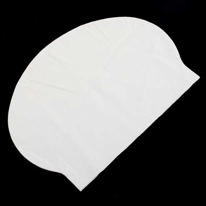 Proteggere Le Orecchie Capelli Lattice Flessibilità Piscina Tappi per Gli Uomini WomenSilicone Swim Cappelli Unisex Adulto Bianco Indossa Cuffia Da Bagno