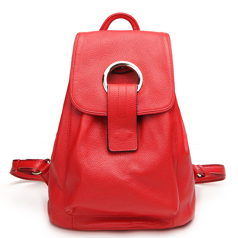 все цены на Top qualityFashion Designer Cow Genuine Leather Women Backpack Drawstring School Bags Travel BackPack