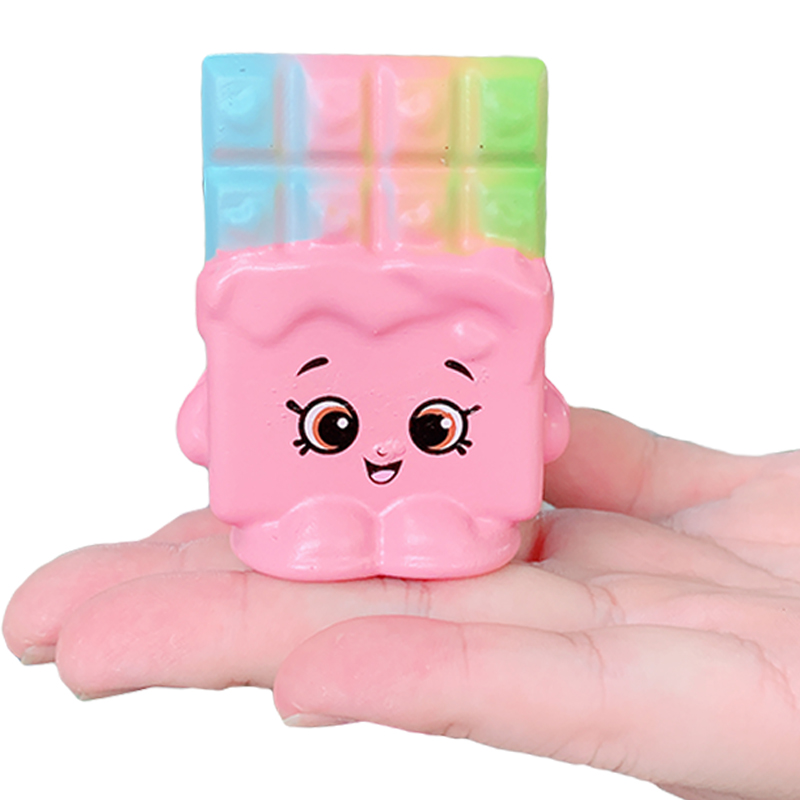 New Kawaii Colorful Chocolate Squishy Slow Rising Soft Squeeze Toys Bread Scented Stress Relief Fun Collection For Xmas Kid Toy