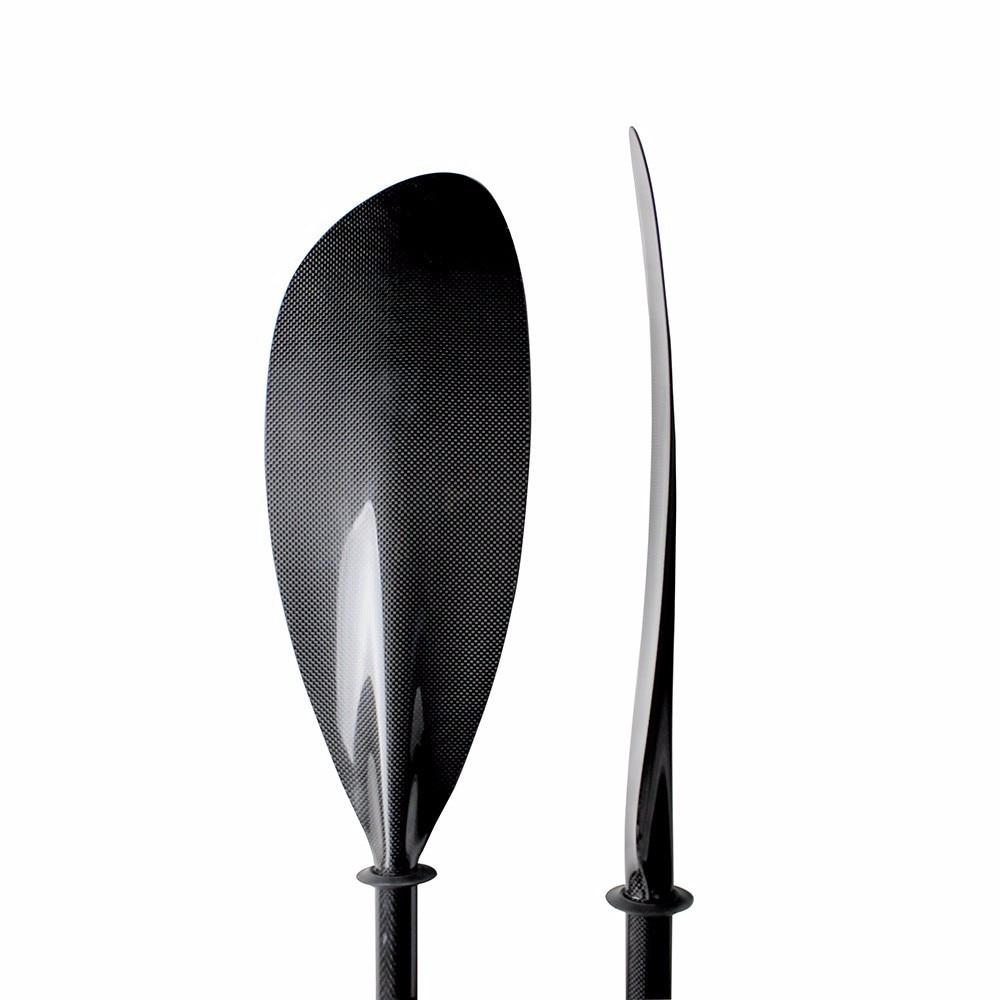 Karšto pardavimo jūros anglies baidarės irklas su aliuminio reguliatoriumi ir ovaliu velenu 10 cm ilgio reguliavimas ir laisvas krepšys Q01-sportas