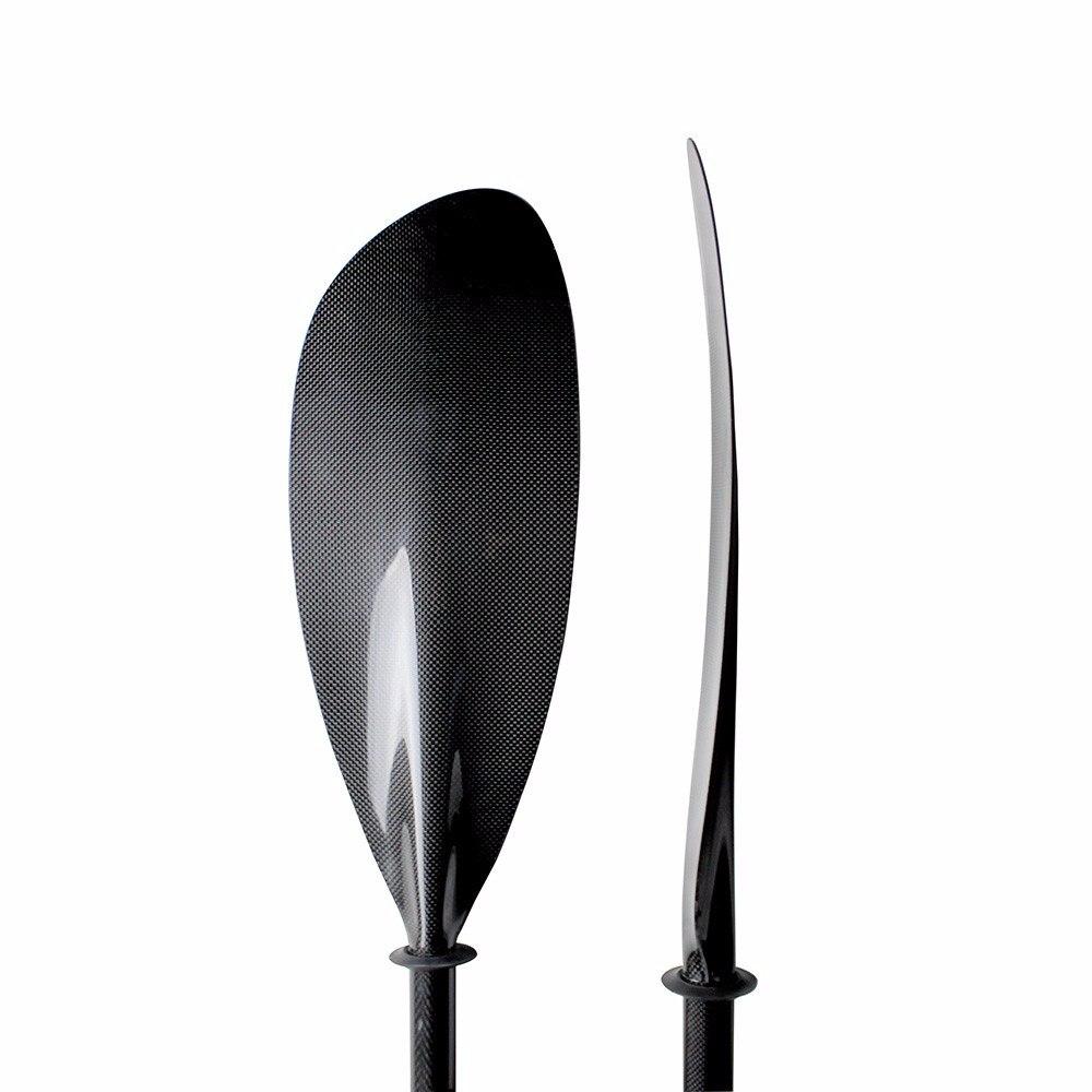 Vendite calde Mare carbon Kayak Paddle Con Alluminio Regolatore E L'albero Ovale 10 cm regolazione della lunghezza e Trasporto bag-Q01-sport