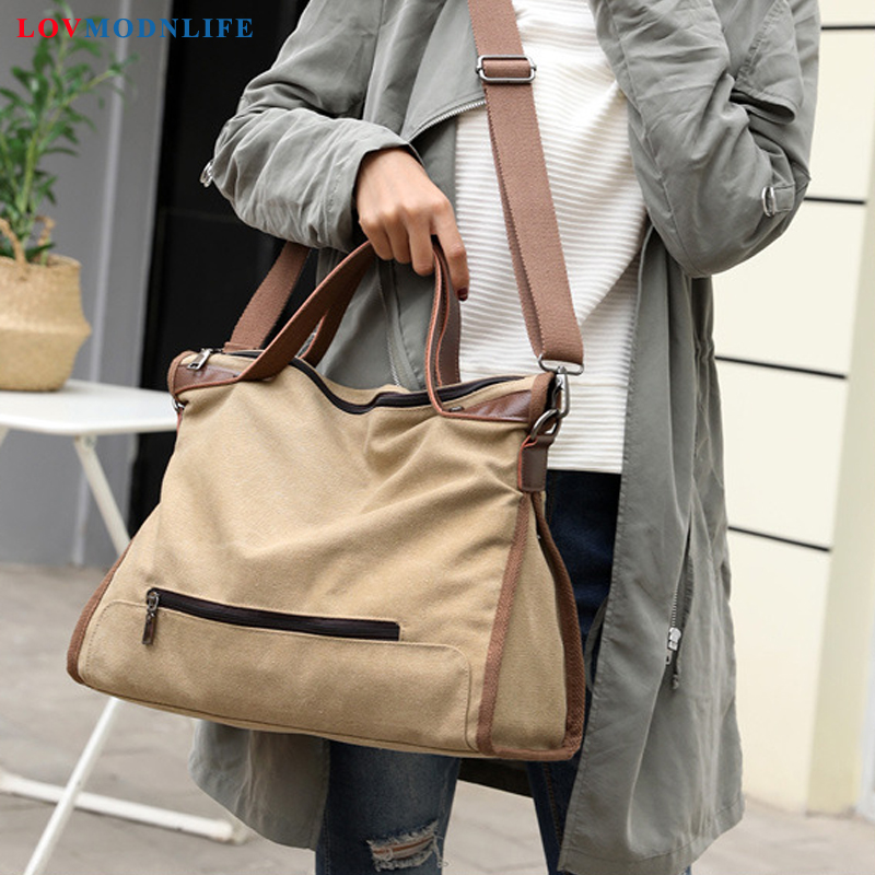 Fashion Crossbody Bags Handbags Big Women Designer Female Shoulder Bags Canvas Large 2019 Summer Woman Messenger Tote Bag Casual in Shoulder Bags from Luggage Bags