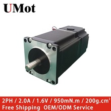 цена на Nema 23 Stepper Motor with Brake 55mm Length 2A 1.6V 4-wire 950mN.m Off-Power Brake Stepper Nema23 Step Motor for 3D Printer CNC