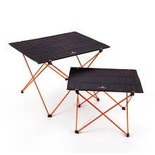 נייד מתקפל מתקפל שולחן 4 כדי 6 אנשים שולחן קמפינג מנגל טיולים נסיעה חיצוני פיקניק 7075 אלומיניום סגסוגת Ultra אור