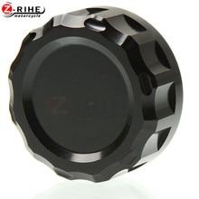 цены Motorcycle CNC Cylinder Rear Fuel Brake Fluid Reservoir Cover Tank Cap for Kawasaki Z1000 Z 1000 SX 2012 2013 2014 2015