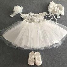 Baby Blumenmädchen Kleider + Kopfschmuck + hut + Schuhe Prinzessin Anzüge für Weihnachten Geburtstag Party Vestido Infantil 80237