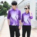 long sleeve badminton shirt & pants badminton tennis t shirt men/women training suit shuttlecock jerseys sportswear tracksuit