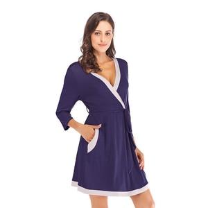 Image 3 - Халат кимоно Женский из мягкой модала, ночная рубашка юката, пижама, лето 2020