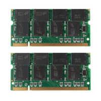 ¡Promoción! 2GB 2X1GB PC2700 DDR 333 no ECC 200 Pin CL2.5 portátil (SODIMM) de memoria (RAM) Nuevo