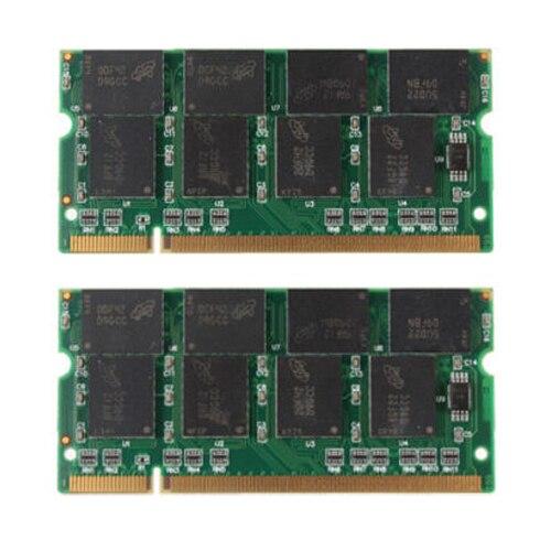 PROMOTION! 2 GB 2X1 GB PC2700 DDR 333 Non ECC 200 Broches CL2.5 Ordinateur Portable (SODIMM) Mémoire (RAM) Nouveau