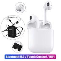 I12 мини СПЦ Touch Bluetooth 5,0 наушники + чехол наборы 3D стерео гарнитура true беспроводной для Apple iphone samsung sony