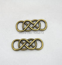 20pcs Antique Bronze Wire Mesh Double Infinity Symbol Charm Pendant Connector For Bracelet 13x33mm Diy Accessory Jewelry Making