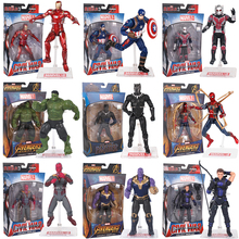 Marvel Toy The Avenger Endgame Super Hero Thor Captain Thanos Wolverine Spider Man Iron Man Black Panther Action Figure Toy Doll
