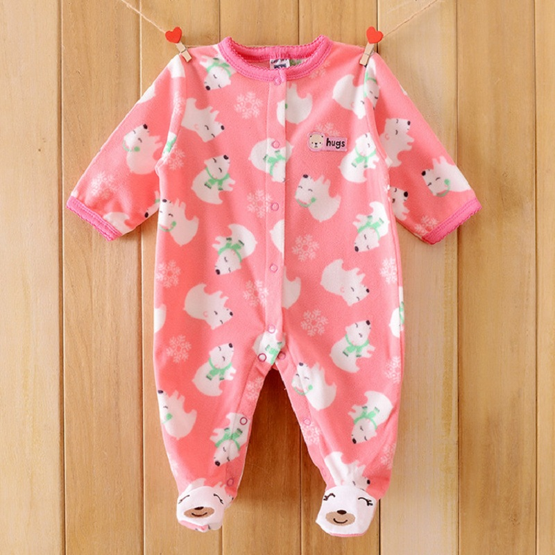 Monkey Print Fleece Newborn Baby Girl Overalls   Romper   Bebe Body Baby Boys   Rompers   New Born Baby Clothes, Size 3-12M