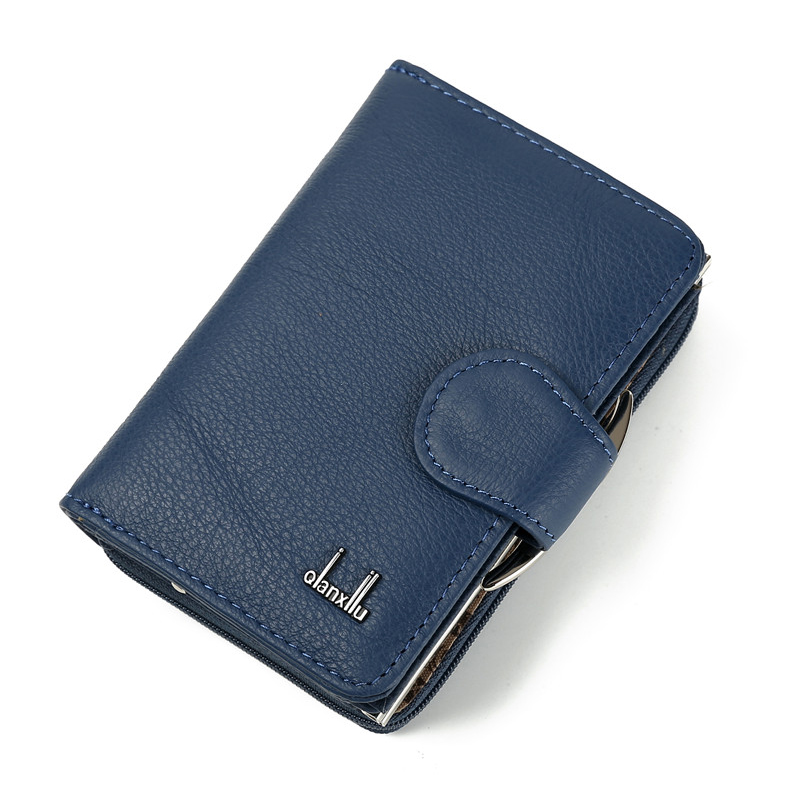 2018 New Color Fashion Women Short Wallet Genuine Leather Zipper and Hasp Coin Purse Cowhide Female Purses Gift For Ladies designer fashion women short wallet genuine leather 2 fold cowhide soft leather ladies wallets purse unisex high quality famous