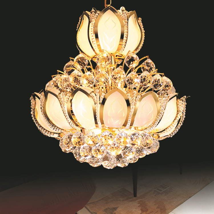 Lustres Crystal Chandeliers Golden Crystal Chandelier LED Luxury Home Lighting Fixture Deco LED Chandelier Modern Lustres E14 luxury k9 crystal chandeliers lighting fixture with different size free shipping