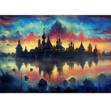 Beautiful castle diamond Embroidery diy painting mosaic 3d cross stitch picture H839