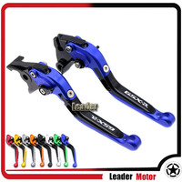 For SUZUKI SV650 SV 650 2016 2017 Motorcycle Accessories Aluminum Folding Extendable Brake Clutch Levers LOGO