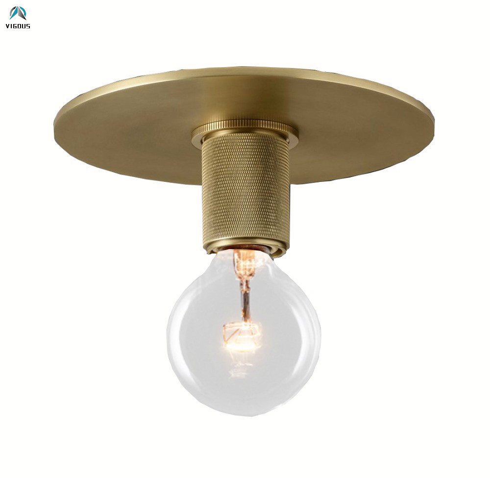 Retro Copper Edison Bulb Led Ceiling Lamp RH American E27 LED Ceiling Lights For Corridor Glass Shades Lustre Indoor FixturesRetro Copper Edison Bulb Led Ceiling Lamp RH American E27 LED Ceiling Lights For Corridor Glass Shades Lustre Indoor Fixtures