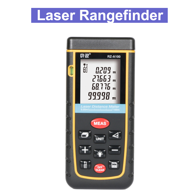 RZ 40M 60M 80M 100M Handhold Laser Rangefinder Digital Laser Distance Meter Electrical Level Tape Laser Distance Measurer цена