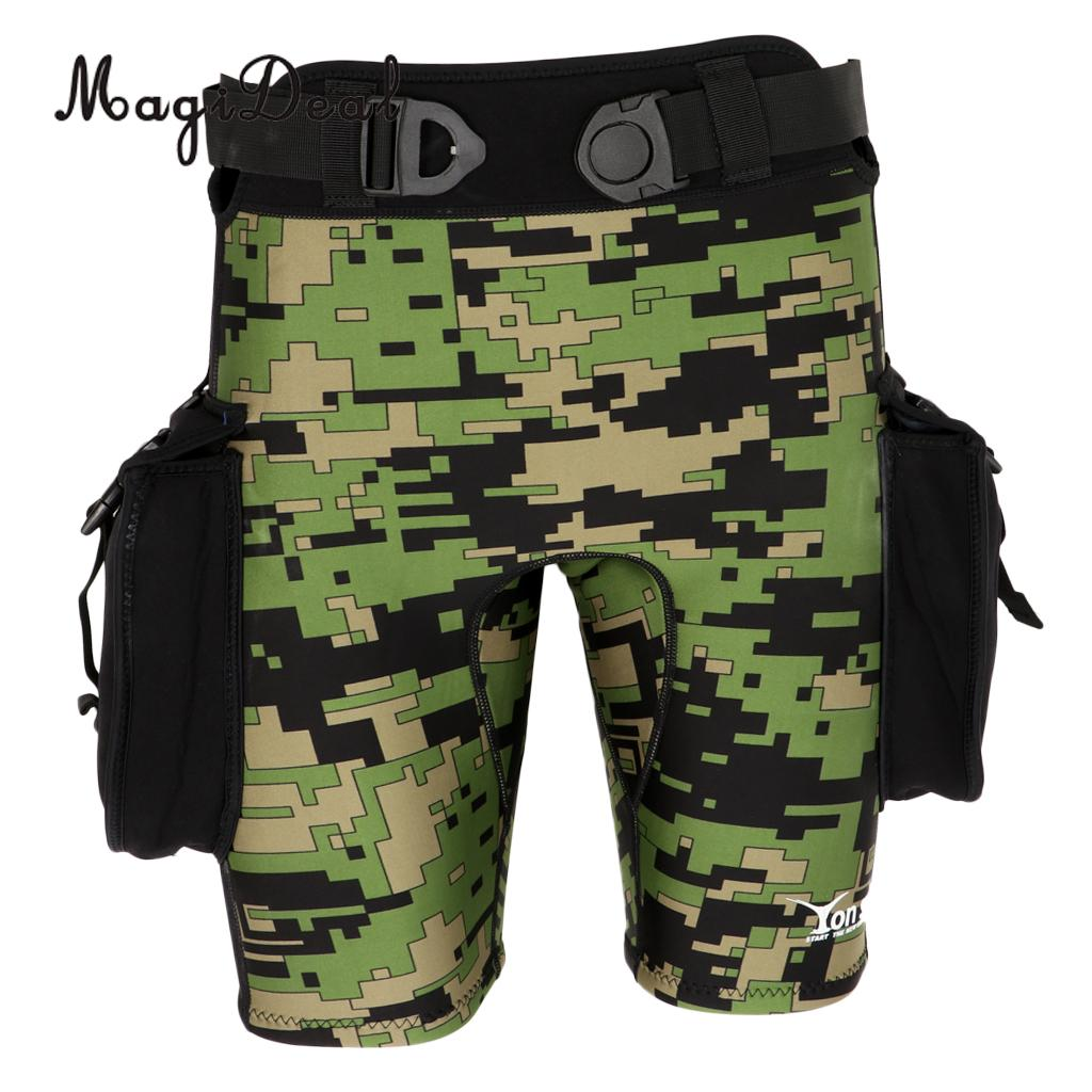 Men 2.5mm Camouflage Neoprene Wetsuit Shorts & Pockets - Scuba Diving, Snorkeling, Surfing, Swim, Jetski, Paddleboard - S M L XL