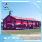 18X6 M Outdoor zwarte en rode kubus opblaasbare evenement tent voor tentoonstelling op verkoop